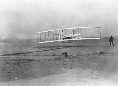 The Wright Brothers caught on television